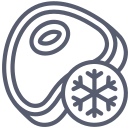 Frozen meat icon